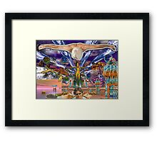 Emma's Fantasy Stargate Nova - digital art Framed Print