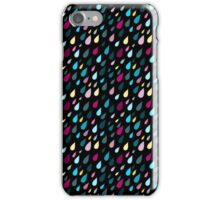 Rainy day pattern in black  iPhone Case/Skin