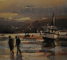 Boats on the Sandbanks by moonglow