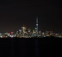 Toronto at night  by falcongillis