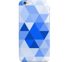 Misty blue triangles iPhone Case/Skin