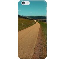Country road into some autumn scenery | landscape photography iPhone Case/Skin