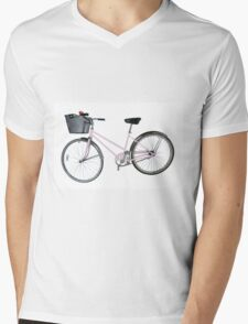 Pink Pedal Challenge 2015 - Support Jo and Ginny - bike only Mens V-Neck T-Shirt
