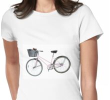 Pink Pedal Challenge 2015 - Support Jo and Ginny - bike only Womens Fitted T-Shirt