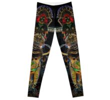 Captain of the Temple Green Guardians Stylized Leggings