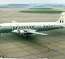 Douglas DC-6 I-DIMC arrives at LAP Central by Colin Smedley