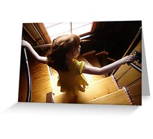 Descending The Spiral Stairway Greeting Card