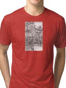 B&W Samurai Noir  Tri-blend T-Shirt