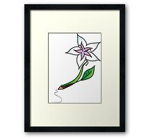 Flower to pencil Framed Print