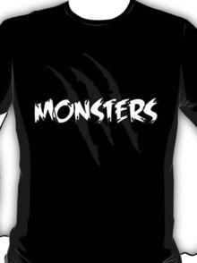 MONSTERS logo Black+White T-Shirt