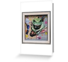 Don't you dare let me kiss the frog before I put lippy on! Greeting Card