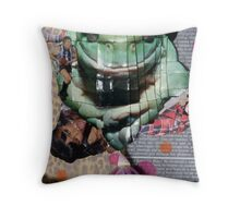 "detail / ""Don't you dare let me kiss the frog before I put lippy on!"" Throw Pillow"