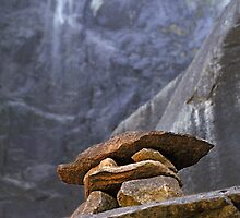 Rock Cairn Bridalveil Fall by Mark Ramstead