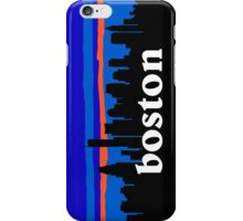 Boston, skyline silhouette iPhone Case/Skin