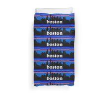 Boston, skyline silhouette Duvet Cover