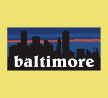 Baltimore, skyline silhouette Kids Clothes