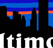 Baltimore, skyline silhouette Sticker