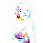 Norma Jeane In Watercolor by Eti Reid
