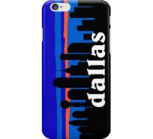 Dallas, skyline silhouette iPhone Case/Skin