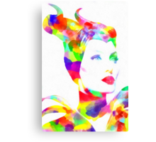 Maleficent in Watercolor Canvas Print