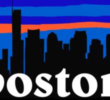 Boston, skyline silhouette Sticker