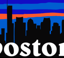 Boston, skyline silhouette Sticker