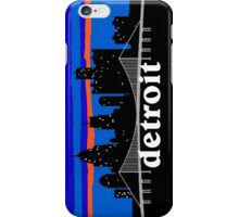 Detroit, skyline silhouette iPhone Case/Skin