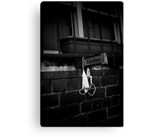 Caution dirty knickers Canvas Print