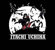 ITACHI FLY IN THE  MOON by bradixart