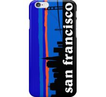 San Francisco, skyline silhouette iPhone Case/Skin