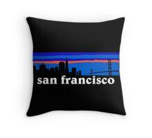 San Francisco, skyline silhouette Throw Pillow