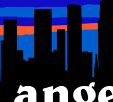 Los Angeles, skyline silhouette Sticker