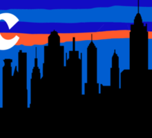 NYC, skyline silhouette Sticker
