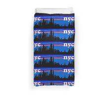 NYC, skyline silhouette Duvet Cover