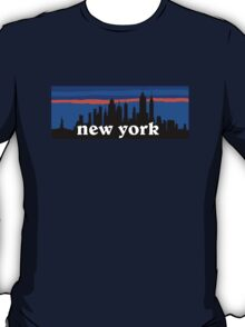 New york, skyline silhouette T-Shirt