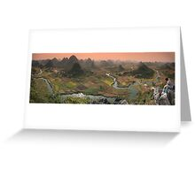 Guilin Mountains Greeting Card