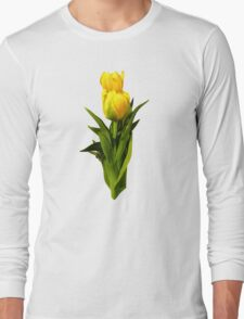 Yellow Tulips Tall and Short Long Sleeve T-Shirt