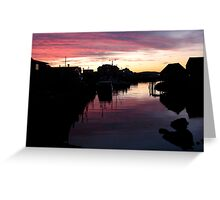Peggy's Cove Silhouette Greeting Card