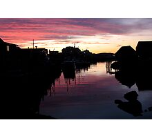 Peggy's Cove Silhouette Photographic Print