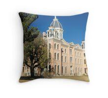 Presidio Co. Courthouse, Marfa, Tx. 1886 Throw Pillow