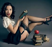 The Naughty Teacher Pin Up by phantomorchid