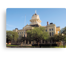 Bell Co. Courthouse, Belton, Tx. 1884 Canvas Print