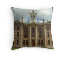 Wharton Co. Courthouse, Wharton, Tx. 1889 Throw Pillow