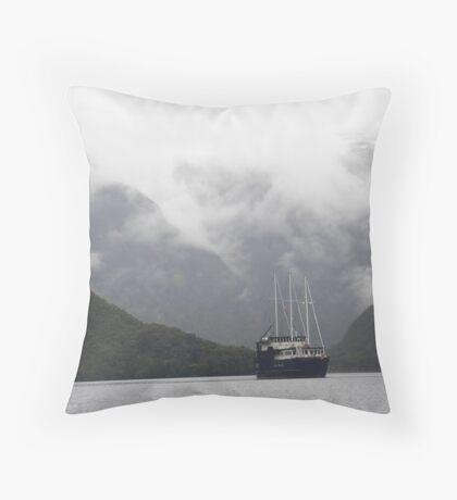 Fiordland Navigator on Doubtful Sound, NZ Throw Pillow