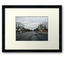 Constitution Avenue Framed Print