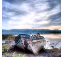 old boats of mull Photographic Print