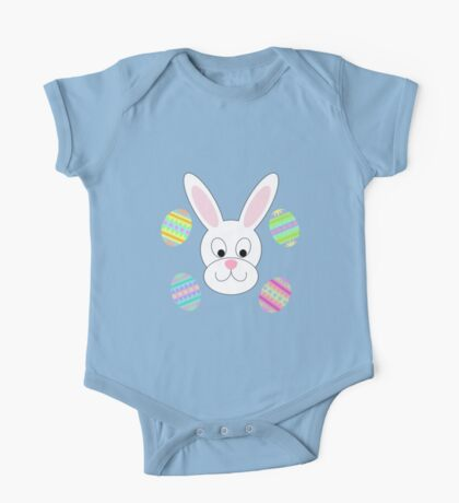 Easter Bunny with Easter Eggs One Piece - Short Sleeve