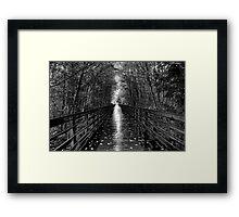 Light at the end Framed Print