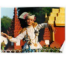 Myanmar, a ceremonious dancer Poster