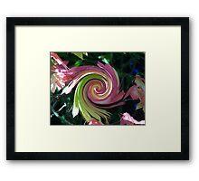 Changing Leaves Swirled Framed Print